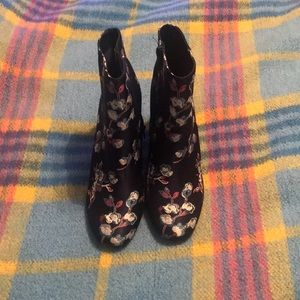 floral heeled boots from urban